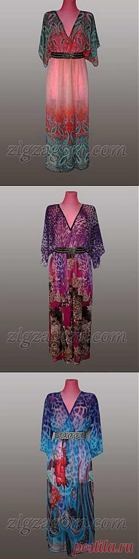 Длинное платье из шифона своими руками | Зигзагом.com