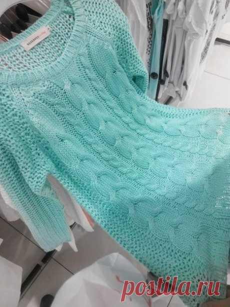 Платье-туника очень свободной вязки (Вязание спицами) | Журнал Вдохновение Рукодельницы