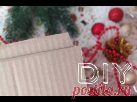 ПРОСТОЙ Рождественский венок своими руками / Как сделать Новогодний венок из мишуры - YouTube