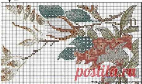 Схемы к экзотической вышивке крестом в восточном стиле