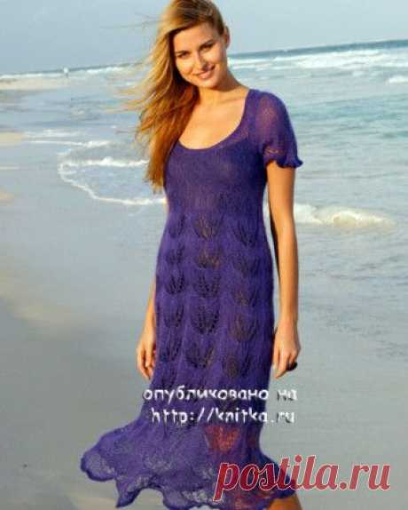 Ажурное платье спицами, Вязание для женщин