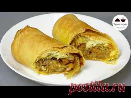 Пирожки наоборот мало теста и много начинки Минимальный вред для фигуры! Pies with cabbage - YouTube