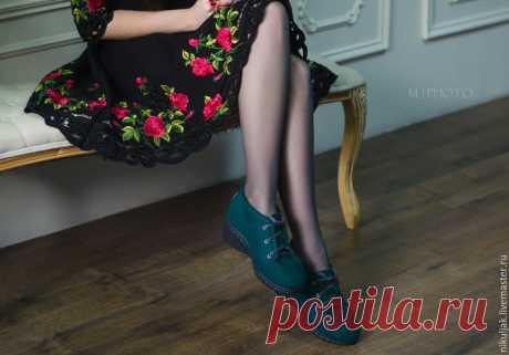 818b5dd136ecf Туфли валяные Emerald – купить в интернет-магазине на Ярмарке Мастеров с  доставкой - 8S03JRU