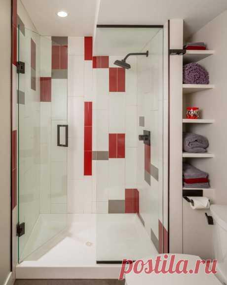 Полки в ванной: модные тенденции практичного оформления интерьера