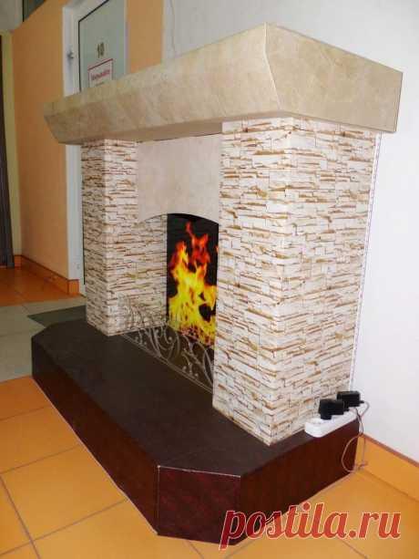 Камин из картона своими руками - 125 фото и инструкции для изготовления