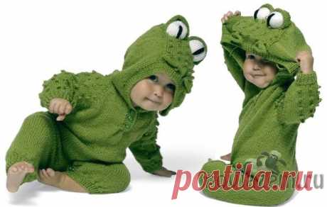 """Overalls spokes \""""Young frog\"""" to the kid"""