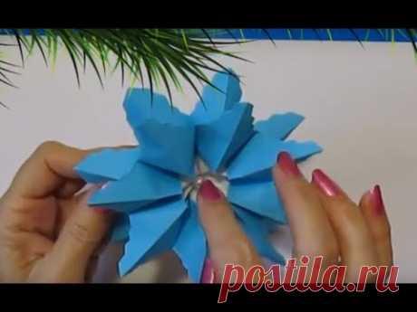 Красивая Ёлочная Игрушка из Бумаги своими руками/Новогодний декор идеи Christmas Ornaments DiY