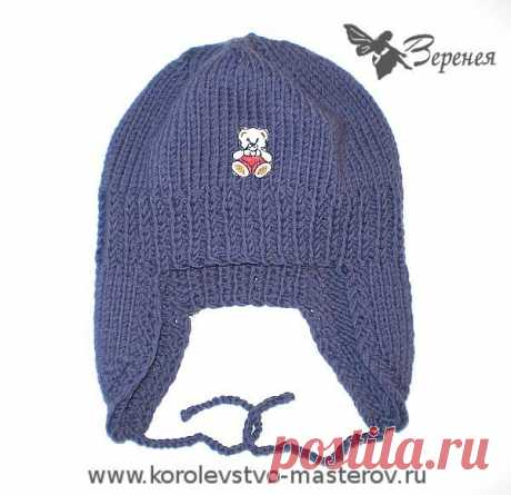 We knit hats for children. master classes., the Bombay hats for kids a winter cap spokes for the girl