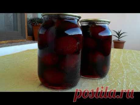 Маринованные сливы/Marinated plum