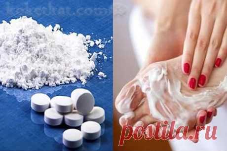 Аспириновый пилинг для гладких пяточек