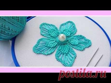Макраме  вышивка * Румынское кружево * Цветок * Фантазия  #malina_gm