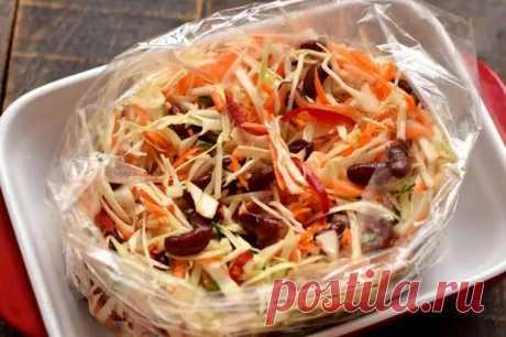 «Ленивая» капуста в пакете - Вкусные рецепты - медиаплатформа МирТесен