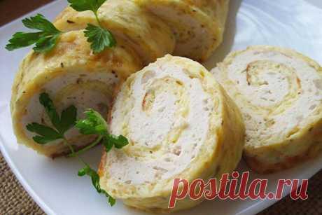 Простой рецепт: Сырный рулет с курицей - Кулинария
