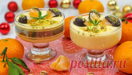 Новогодний Мандариновый Десерт за 15 МИНУТ, который тает во рту!