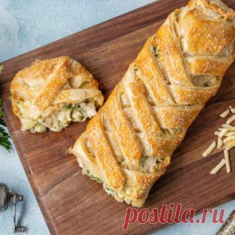 Слоеный пирог с курицей и сыром – Zira.uz