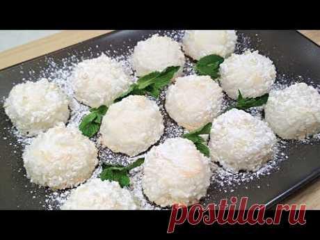 Любимый Десерт за 15 мин! Домашние кокосовые конфеты со вкусом Рафаэлло - YouTube