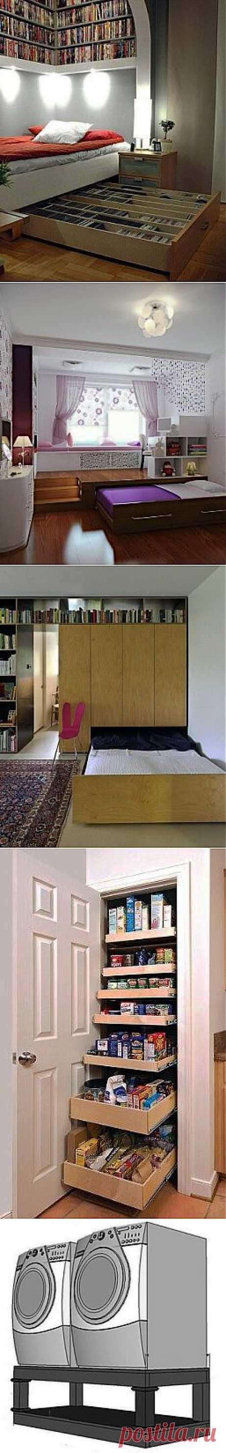 Дополнительные места для хранения вещей в небольшой квартире