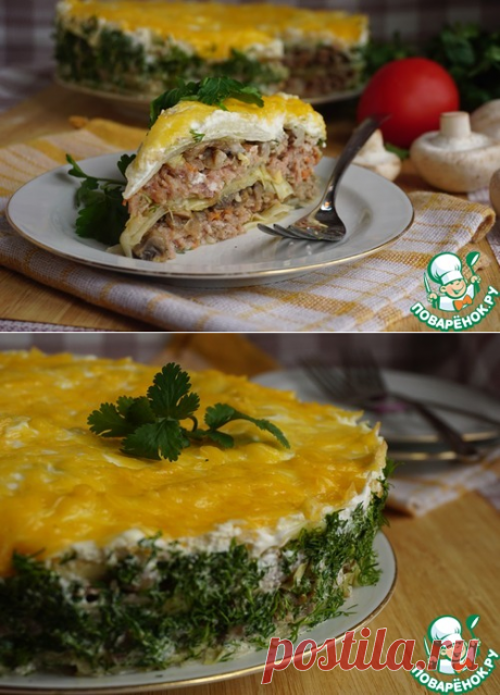 Мясной пирог «Бабушкин голубчик» от Аллы Ковальчук