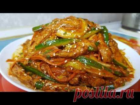 Хе по-корейски, цыганка готовит.👍 Маринованная рыба.🐟Gipsy cuisine.