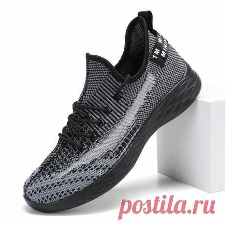 Large Size Women Trainers Breathable Mesh Lace Up Walking Shoes - US$34.99