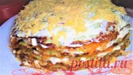Торт из кабачка — Кулинарная книга - рецепты с фото