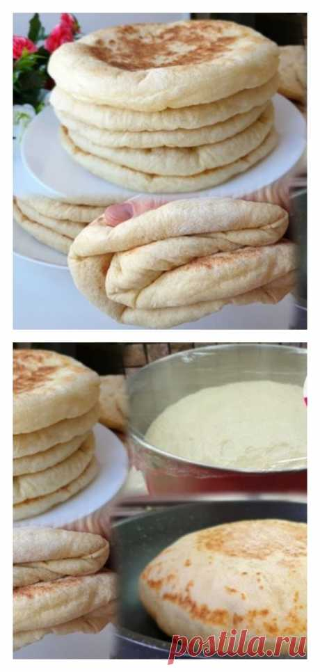 Мягкие и воздушные – просто Фантастика! Базлама – лепешки, вместо хлеба - tolkovkysno.ru