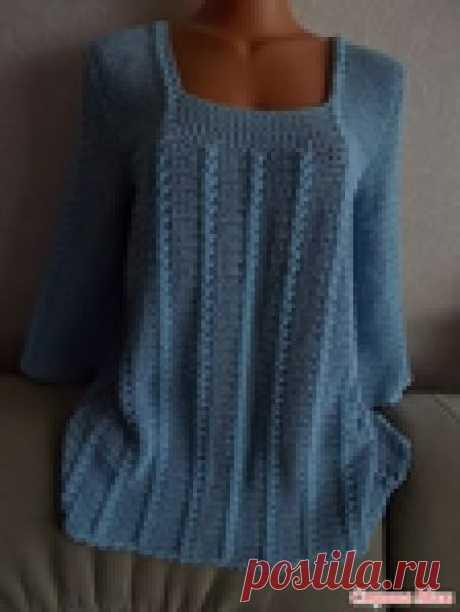 Чудесная блуза-туника крючком