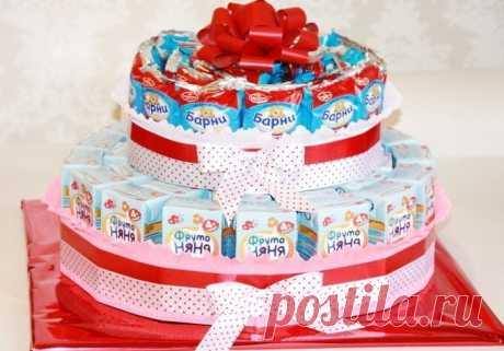 Делаем торт из барни и сока в детский сад