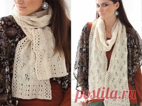Ажурный шарф-палантин — HandMade
