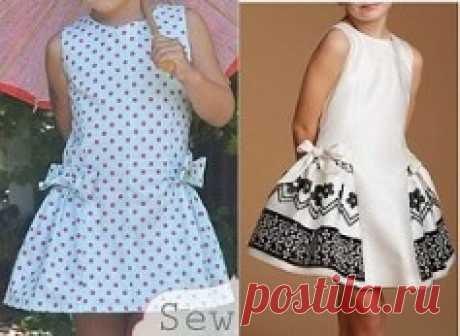 Выкройка летнего детского платья на возраст от 1 года до 16 лет (Шитье и крой) — Журнал Вдохновение Рукодельницы