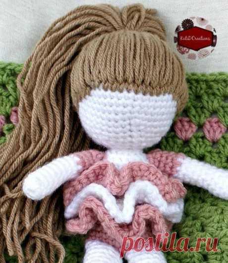 Как сделать вязаной кукле волосы любой длины