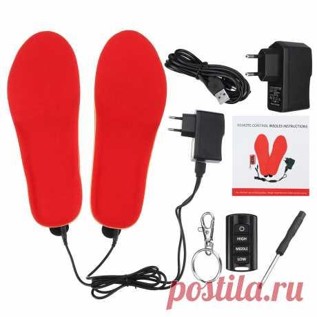 Electric heating insoles warm shoe socks feet heater usb foot winter warmer pads Sale - Banggood.com