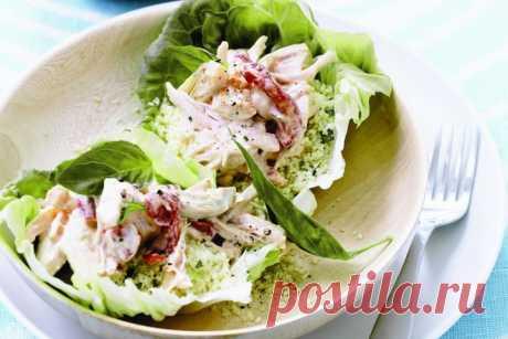 Mediterranean smoked chicken & couscous salad