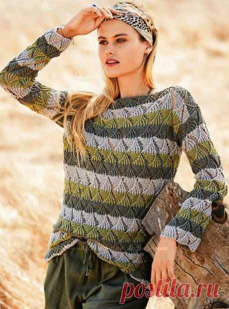 Новые и разные модели спицами - Ажурные пуловеры, пуловеры, платье и жакет   Ирина СНежная & Вязание   Яндекс Дзен