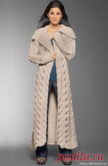 вязаное спицами пальто | Записи с меткой вязаное спицами пальто | Всё самое модное, интересное и вкусное вы найдёте у perchica