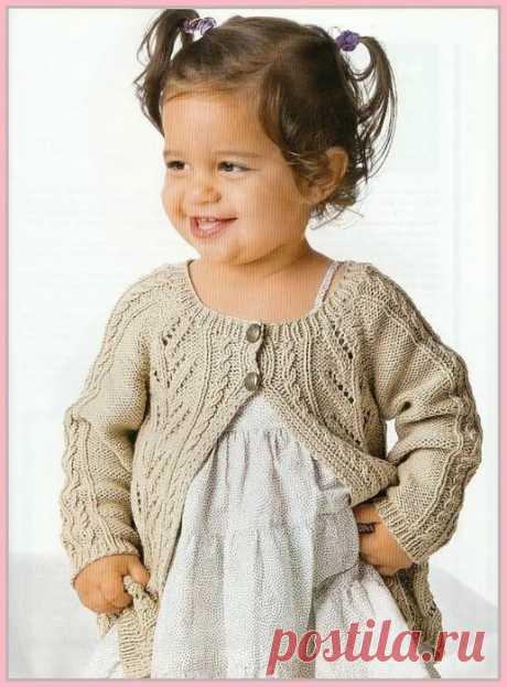 Жакет для девочки 1-3 года - Для детей до 3 лет - Каталог файлов - Вязание для детей