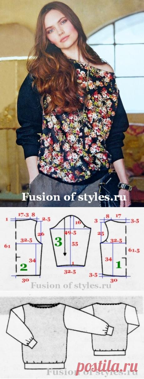 Пуловер женский из трикотажа | СЛИЯНИЕ СТИЛЕЙ