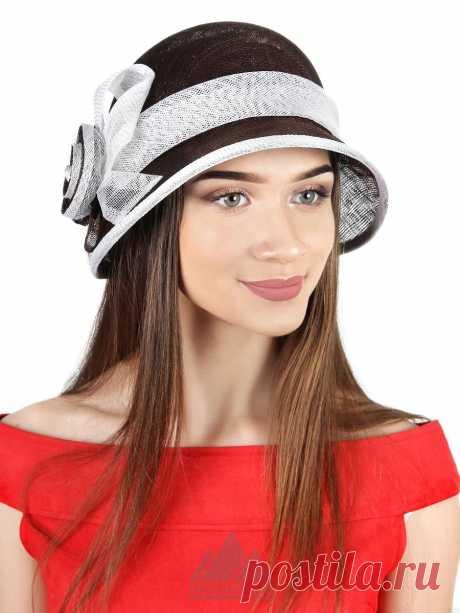 Шляпка Алина - Женские шапки - Из соломки купить по цене 2990 р. с доставкой в Интернет магазине Пильников