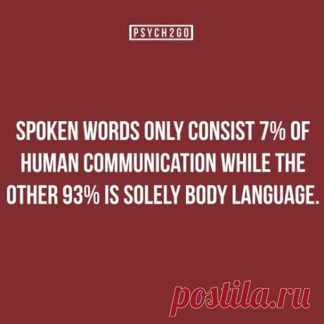7% words, 93% body language