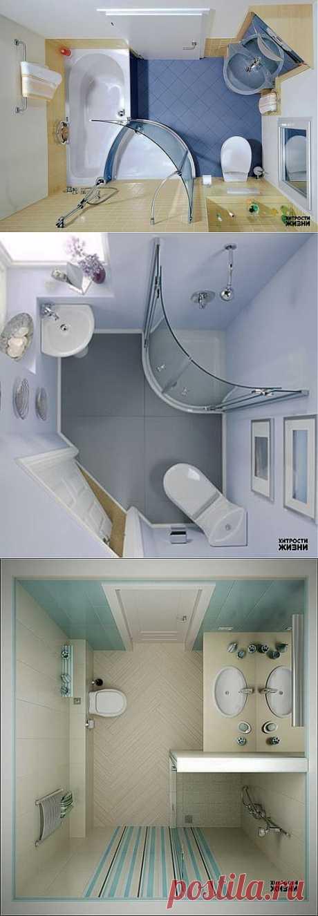 Идеи для маленькой ванной | Хитрости Жизни