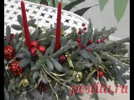 La decoración de Año Nuevo por las manos