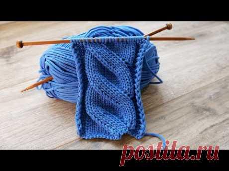 Ложная коса спицами ❄ Mock Cables knitting pattern