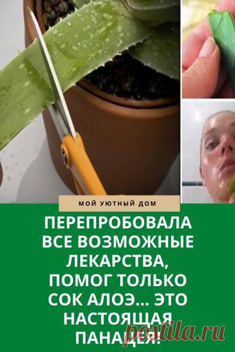 Использование сока алоэ для лечения