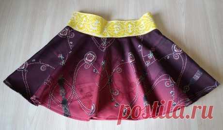 Юбка для девочки своими руками | Как сшить юбку-солнце на резинке