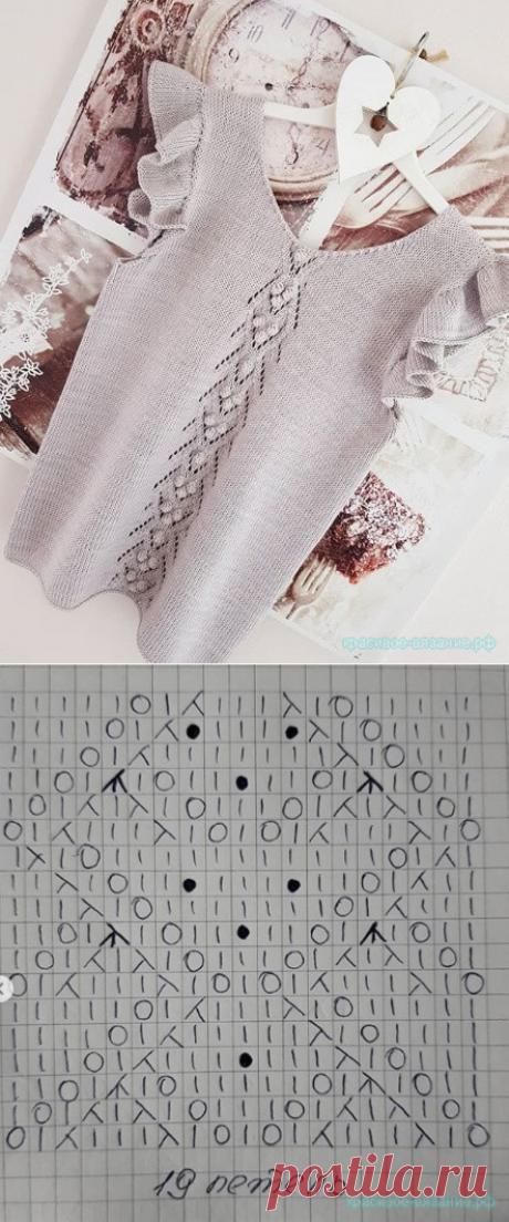 Красивый топ спицами — Красивое вязание
