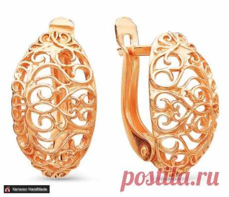 Серьги из позолоты ювелирная бижутерия ручной работы купить в Минске и Беларуси, цены на HandMade