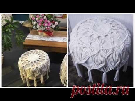 DIY Macrame Chair, Macrame Round Chair Cover, Free Macrame Pattern by TNARTNCRAFTS - YouTube