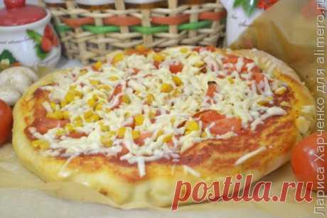 👌 Простой рецепт самой вкусной пиццы в домашних условиях, рецепты с фото Хочу поделиться с вами рецептом приготовления отличной домашней пиццы с замечательной сочной начинкой – выпечка получается удивительно вкусной и ароматной!  Для замеса дрожжевого...