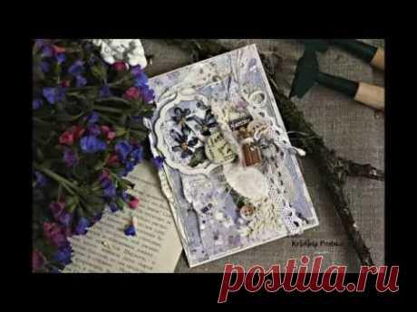 Мастер класс открытка с сухоцветом в стиле эко прованс.