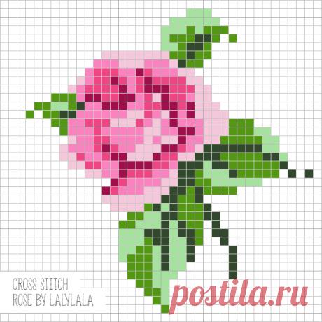 Бесплатная схема заячьих ушек, хвостика и схема вышивки розы (на русском языке) Для куколок заек Lalylala